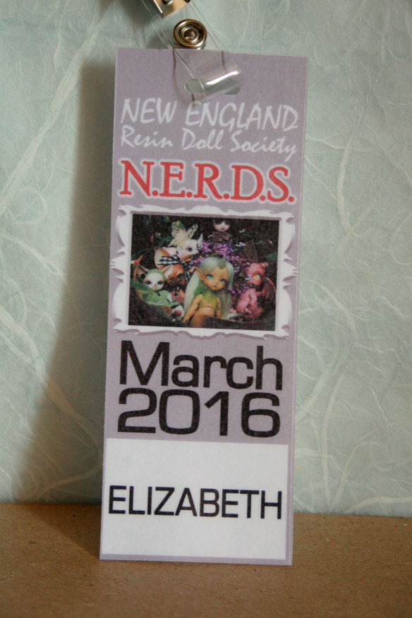 Badge, now retired and working as a bookmark.