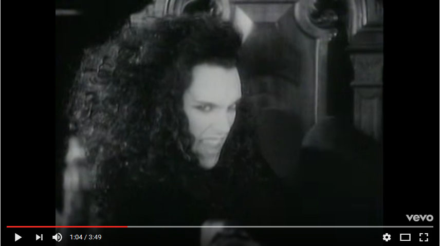 """There is something in my house..."" But wait! All is not lost! Pete Burns is here, with a banana!"